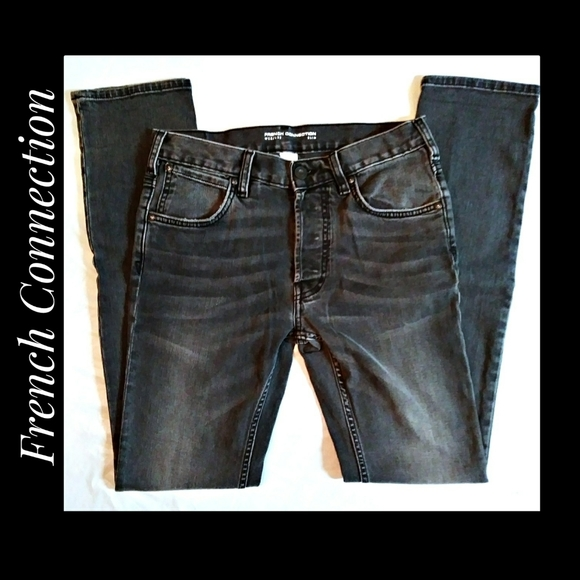 Men's French Connection Black Wash Jeans 28/33